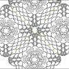 Изумрудный платок с бисером